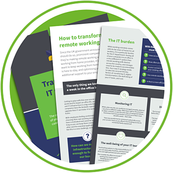 Transform your IT for remote working guide