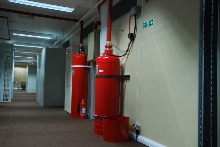 FM200 Fire Suppression Discharge
