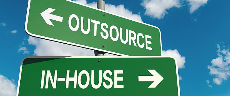 Outsourcing vs using in-house IT cross road