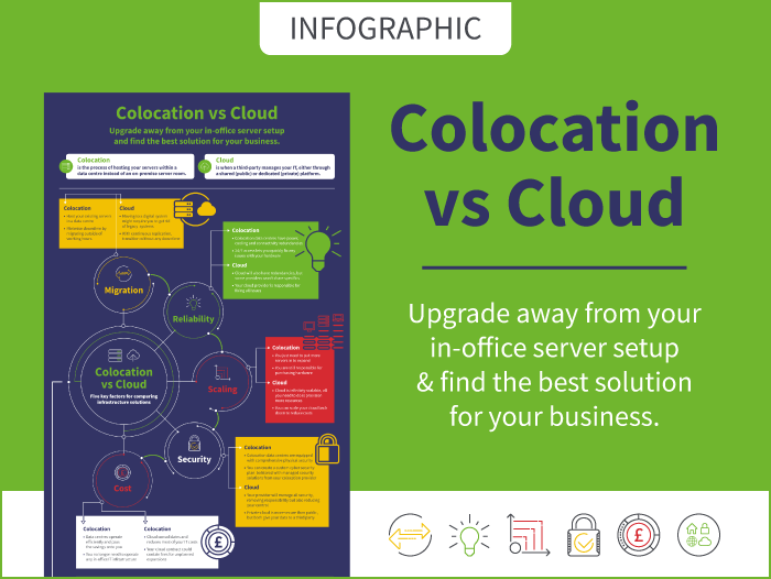 INFOGRAPHIC: Colocation vs Cloud - 5 Key Factors for Comparing