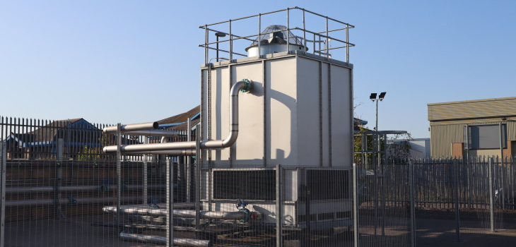Adiabatic or evaporation cooling tower