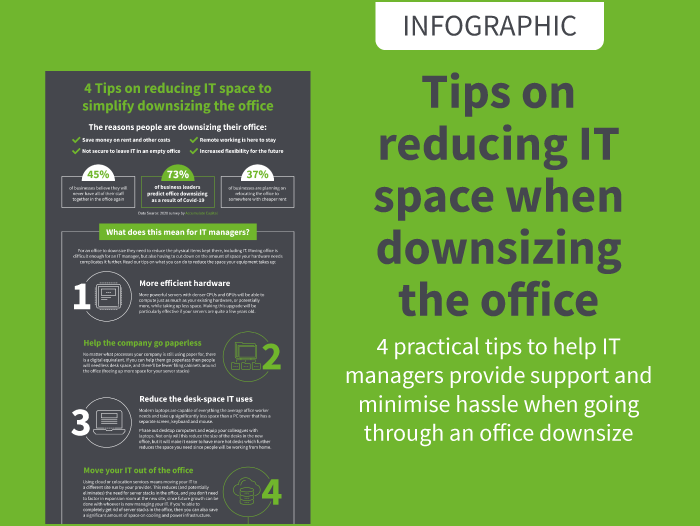 INFOGRAPHIC: 4 Tips on reducing IT space to simplify office downsizing